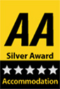AA accommodation 5 star Silver.